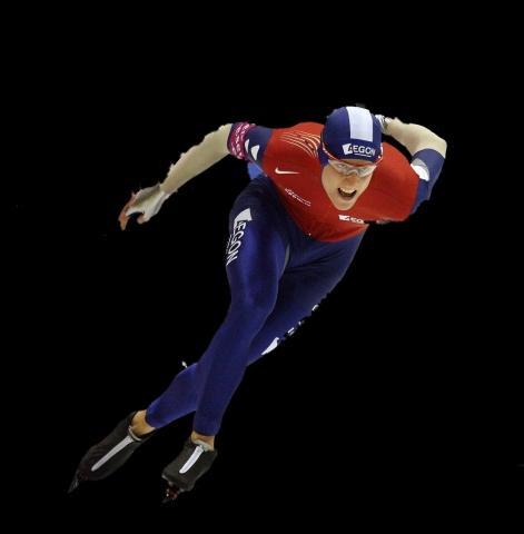 Eisschnelläufer ( Muldner) - (Schlittschuhe, Eisschnellauf, Eisschnellauf-Schlittschuhe)