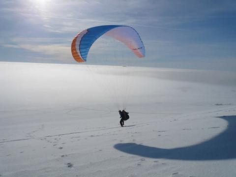 Winterfliegen über der Inversion - (Wintersport, Paragliding, Paragliding Winter)