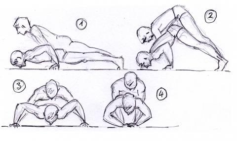 - (Muskelaufbau, Liegestütze, Brusttraining)