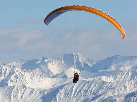 Tandemflug im Stubaital - (Paragliding, gleitschirm, Tandemflug)