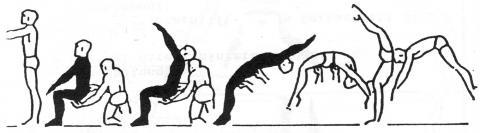 - (Turnen, salto, überschlag)