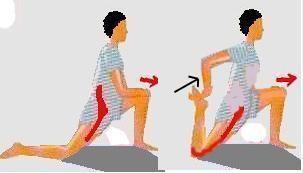 Dehnung der Hüftbeuger - (Kraft, dehnen, Beine)