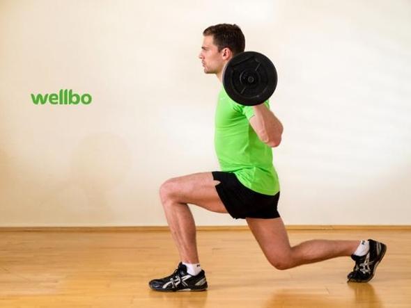 Ausfallschritt mit der Langhantel I wellbo Gym - (Übungen, Übungen körperteile)