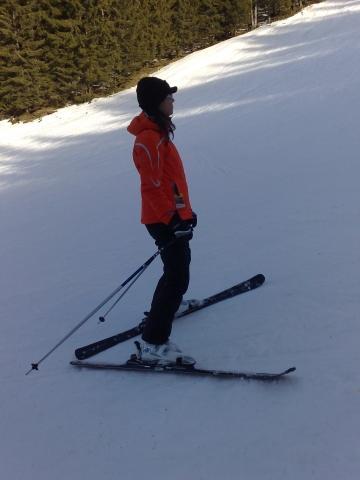 Bilduntertitel eingeben... - (skifahren, Ski, rückwärts)