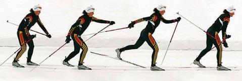 Diagonaltechnik - (laufen, Langlaufen, Skilanglauf)