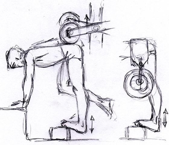Wadenheben vorgebeugt - (Sport, Bodybuilding)
