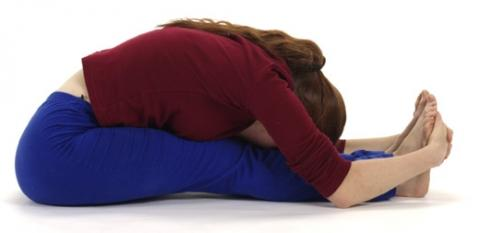 Fortgeschrittene Yoga Asana Vorwärtsbeuge - (Gesundheit, Bauchtraining, Klappmesser)