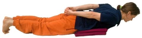Kobra Yoga Übung sanft - (Fitness, Gesundheit, Rücken)