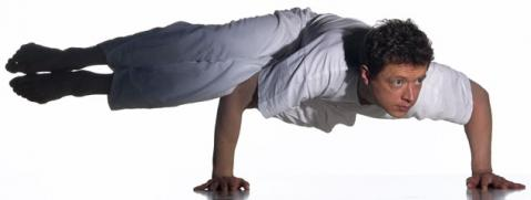 Seitkrähe fortgeschrittene Yoga Asana - (Yoga, asanas, seitliche Krähe)