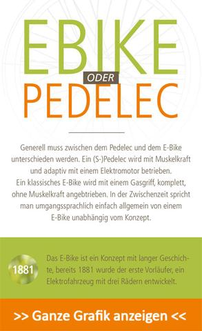 E-Bike Infografik Ausschnitt - (Mountainbike, Radsport, Fahrrad)