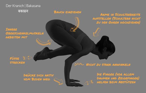 Bakasana - Die Krähe - (Übungen, Yoga, Krähe)