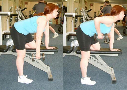 Rudern stehend einhändig - (Muskelaufbau, Trainingsplan, zu Hause)
