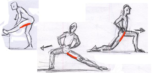 Dehnen der Hüftstrecker, Adduktoren, Hüftbeuger - (Bauchmuskeln, Beweglich)