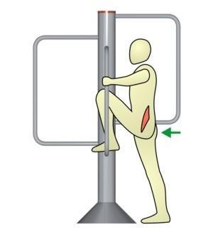Dehnung der Hüftbeuger im Stand - (dehnen, Dehnübungen, muskelgruppe)
