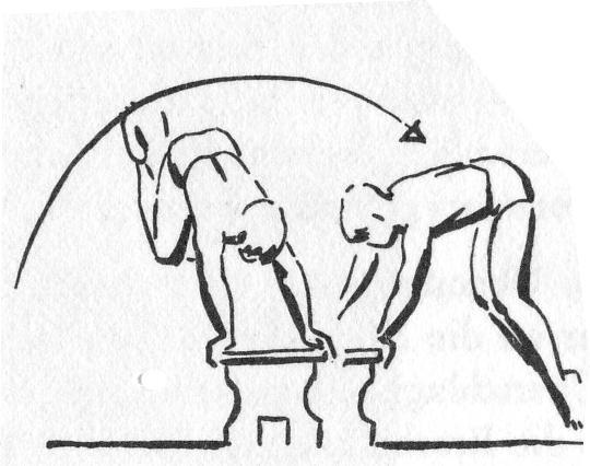 Bild 1: Hockwende - (Turnen, Boden)