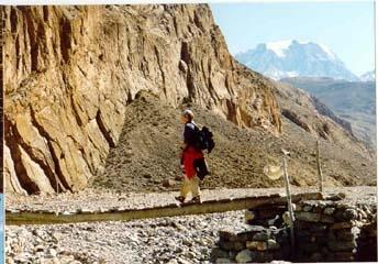 Unterwegs auf dem Annapurna Trek in Nepal - (wandern, Trekking)