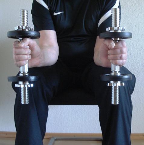 Stabiles Handgelenk, Übung 3, Senkrechtstellung - (Boxen, Boxsport, Boxtraining)