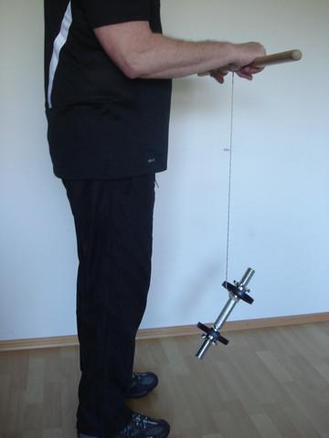 Stabiles Handgelenk, Übung 4, Wickeln - (Boxen, Boxsport, Boxtraining)