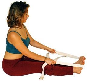 Vorwärtsbeuge mit Band - (Gesundheit, Yoga, Aerobic)