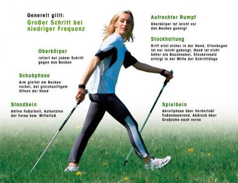 Der perfekte NW-Schritt - (Nordic-Walking, Walking, Stöcke)