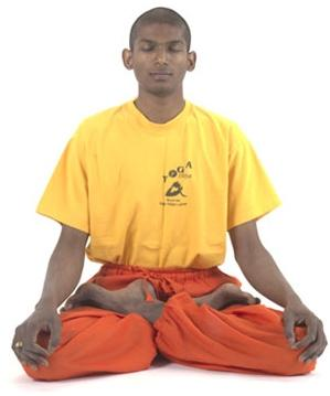 Padmasana Yoga Lotus-Sitz - (Gesundheit, Yoga, Knieprobleme)