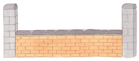 Mauer - (Springreiten, Hindernisse, Ochser)