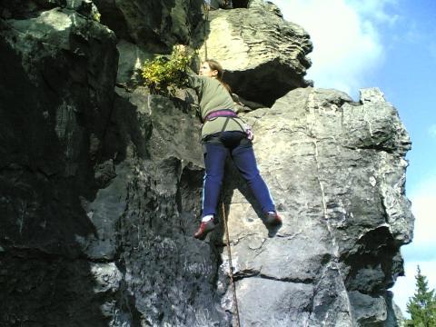 Klettern - (klettern, Aufwärmen, Helm)