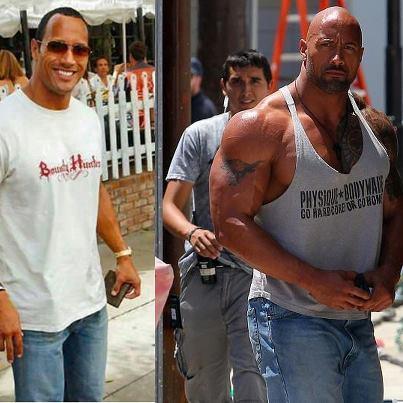 1.1 Dwayne Johnson  - (Muskelaufbau, Doping, THE ROCK)