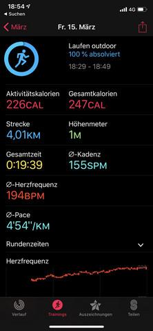 Ist meine Jogging Zeit gut?