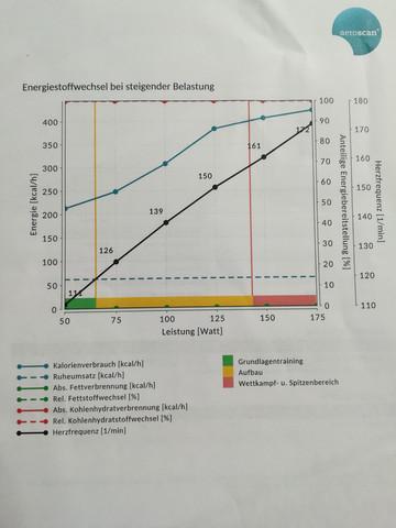 Atemgasanalyse Ergebnisse 1 - (Fettverbrennung, Puls)