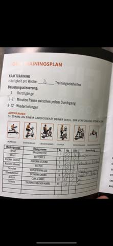 Trainingsplan Dauer (35min) ist das normal (Bild)?