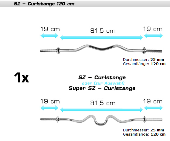 SZ-Curlstange - (Krafttraining, Fitness, Bodybuilding)