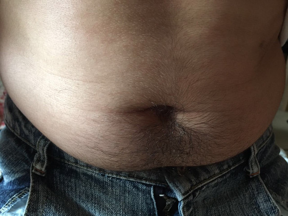 Bauch in Jeans - (abnehmen, Bauch, Jeans)
