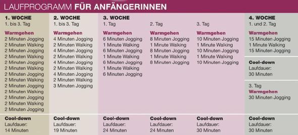 Programm 1 - (Training, laufen, Trainingsplan)