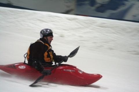 Bilduntertitel eingeben... - (Kajak, Schnee, Kajakfahren im Schnee)